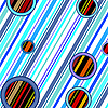Vector clipart: stripes and circles retro pattern