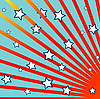 Vector clipart: stripes and stars background