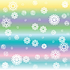 Vector clipart: stripes and white snow flakes