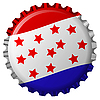 Vector clipart: stylized bottle cap with united states flag