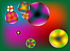 Vector clipart: stylized bubbles