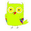 Vector clipart: stylized green owl