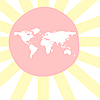 sunny world map