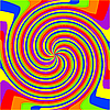 Vector clipart: swirl rainbow composition