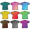Vector clipart: t shirts collection against white