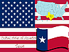 Vector clipart: texas state illustration