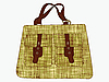 Vector clipart: textured hand bag against white