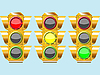 Vector clipart: three different traffic lights