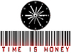 Vector clipart: time is money bar code