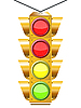 Vector clipart: traffic light with four