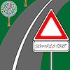 Vector clipart: traffic sign and road