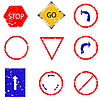 Vector clipart: traffic sign stamp