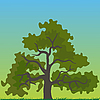 Vector clipart: tree cartoon