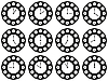 Vector clipart: twelve clock positions