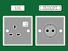 Vector clipart: two different plugs