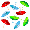Vector clipart: umbrella pattern