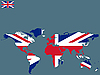 Vector clipart: union jack world map