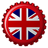 Vector clipart: united kingdom stylized flag on bottle cap