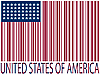 Vector clipart: united states bar codes flag