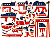 Vector clipart: united states stylized animals