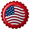 Vector clipart: united states stylized flag on bottle cap