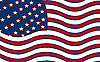 Vector clipart: united states stylized flag