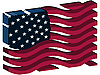 Векторный клипарт: 3D американский флаг