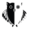 Vector clipart: stylized owl black
