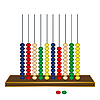 Vector clipart: vertical abacus against white