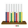 Векторный клипарт: вертикальные счеты