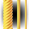 Векторный клипарт: желтые вертикальные буры