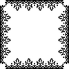 Vector clipart: victorian frame against white
