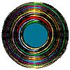 Векторный клипарт: разноцветная виниловая пластинка