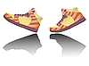 Vector clipart: walking shoes
