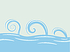 Vector clipart: waves over sea