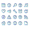 Web blue icons | Stock Vector Graphics
