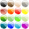 Vector clipart: web buttons isolated on white