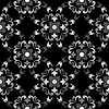 Vector clipart: white and black seamless floral pattern