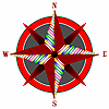 Vector clipart: wind rose 3