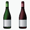 Vector clipart: wine bottles