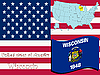 Vector clipart: wisconsin state illustration
