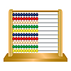 Vector clipart: wooden abacus