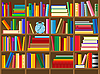 Vector clipart: wooden bookshelf vector