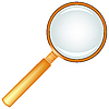 Wooden magnifying glass | Stock Vector Graphics