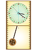 Vector clipart: wooden pendule clock