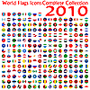 Vector clipart: world flags icons collection