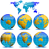 Vector clipart: world globes collection