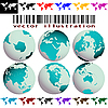 Vector clipart: world maps and globes vector