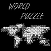 Vector clipart: world puzzle