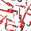 Vector clipart: wrench pipe seamless pattern